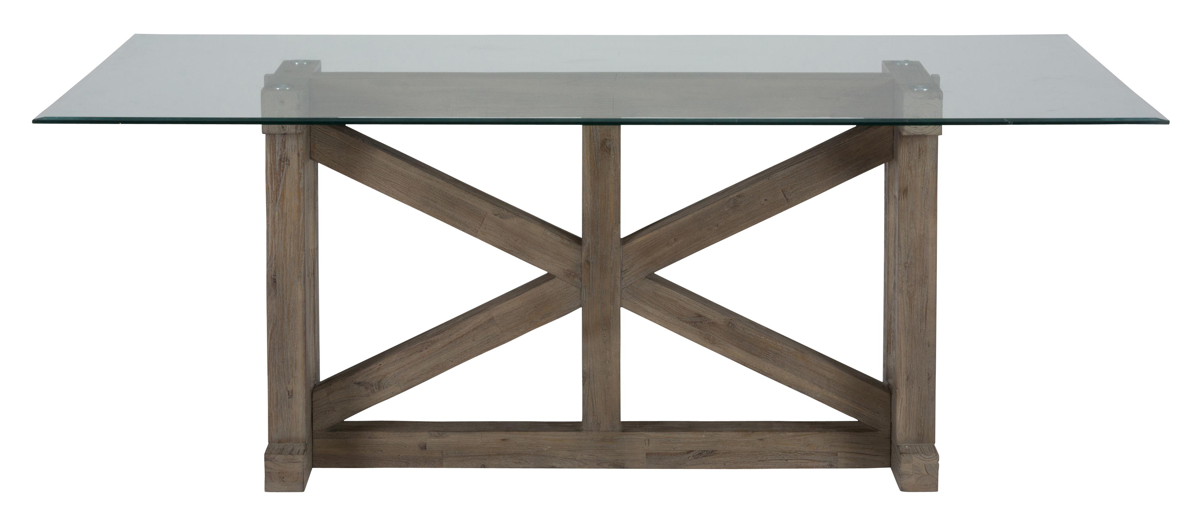 Jofran Hampton Hampton Sandblasted Table with Glass Top - Item Number: 872-78B+78G