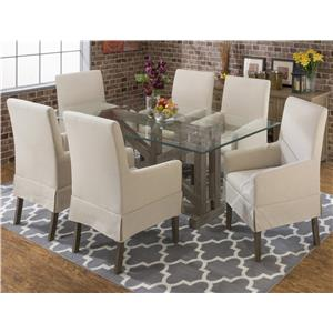 Jofran Hampton Sandblasted Table and Chair Set
