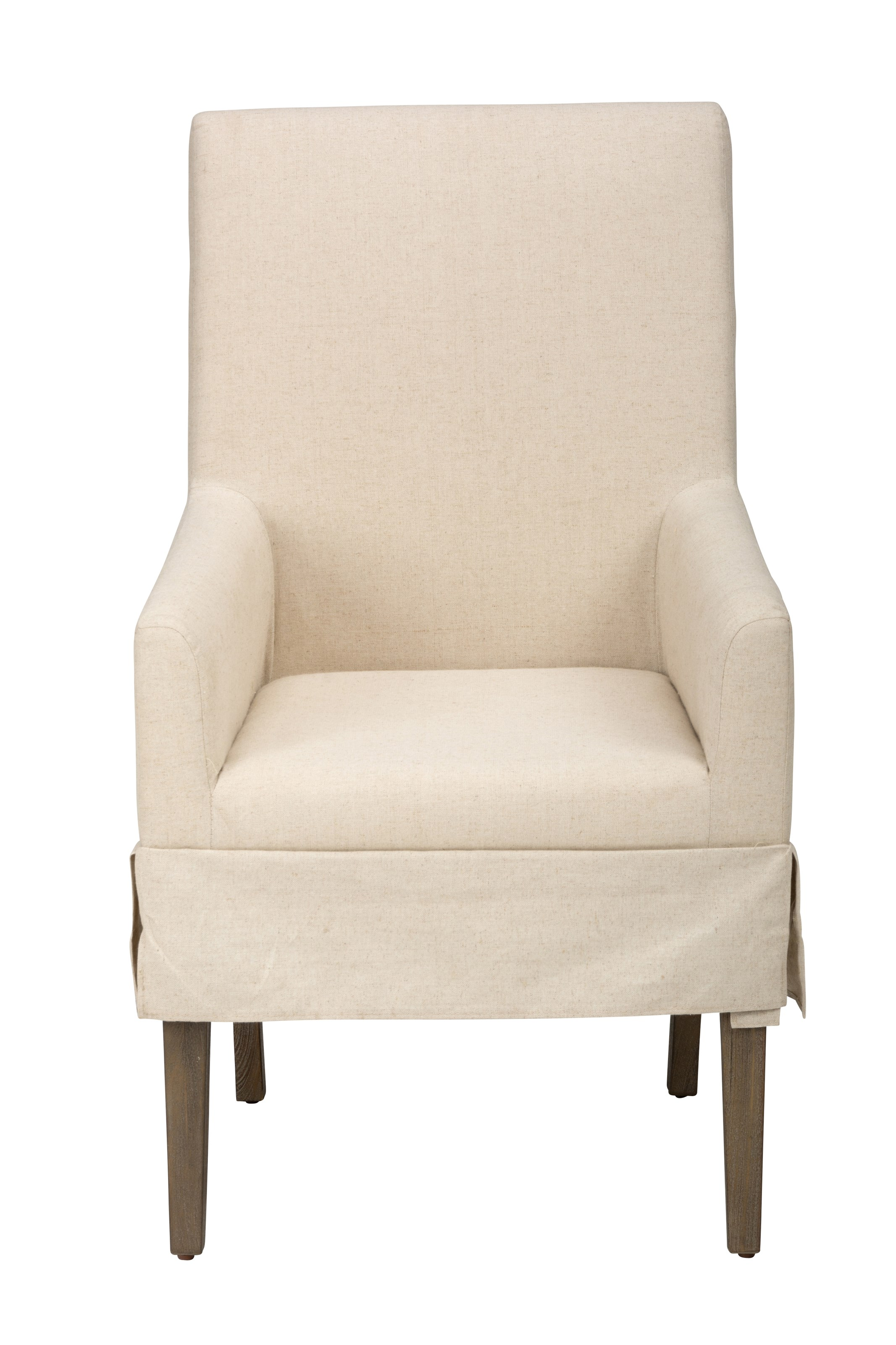Hampton Road Slipcovered Dining Chair with Arms by Jofran at Stoney Creek Furniture