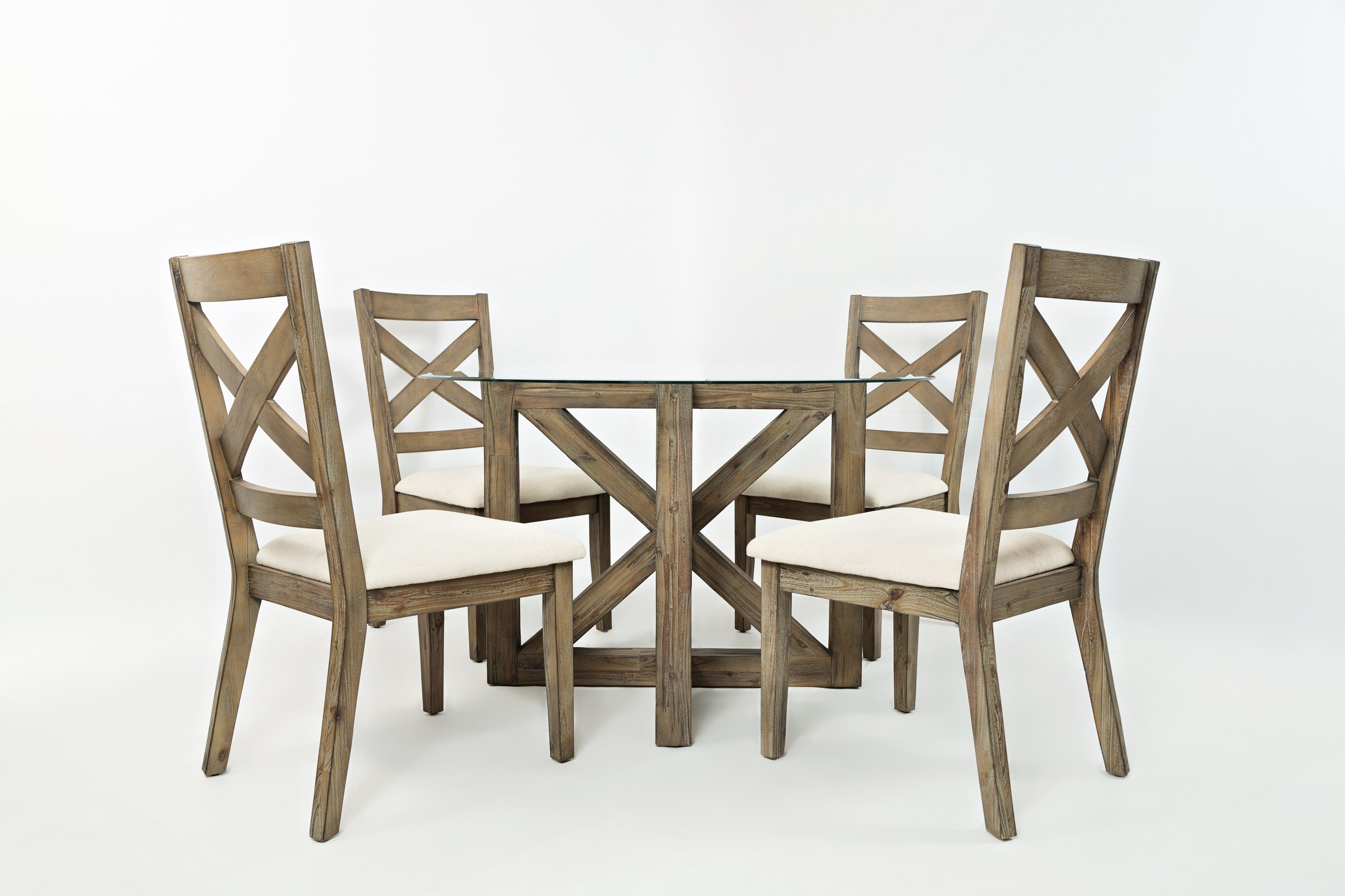 Jofran Hamden Round Table and Chair Set - Item Number: 872-48BG48RD+4x872-628KD