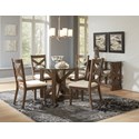 Jofran Hampton Road Round Table and Chair Set - Item Number: 872-48BG48RD+4x872-628KD