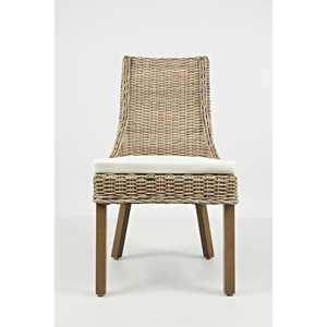 Jofran Hampton Road Rattan Dining Chair with Cushion
