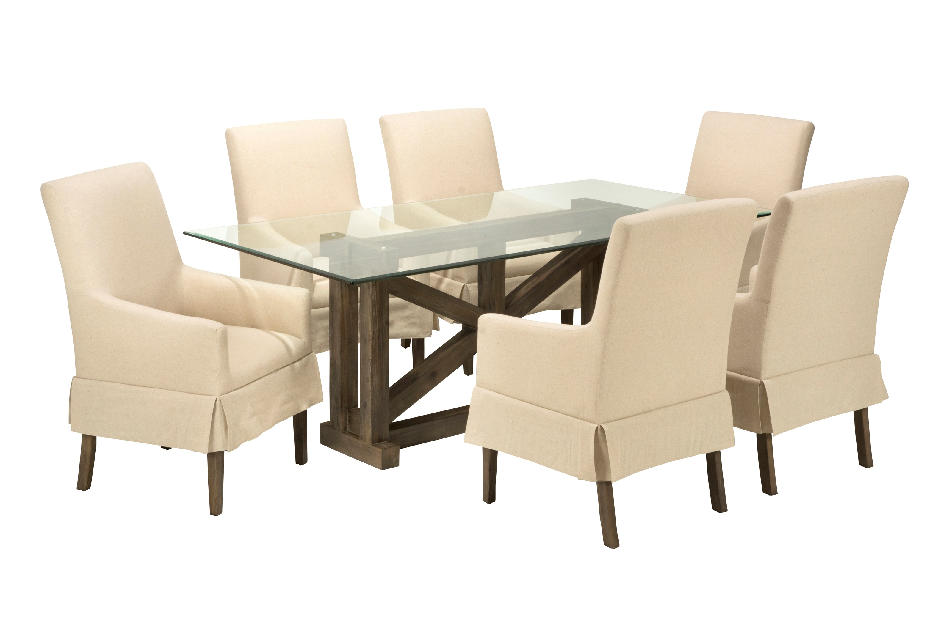 Gl Top Table With Six Chairs