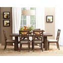 Jofran Hampton Road Trestle Dining Table and Chair Set - Item Number: 872-79+6x628KD