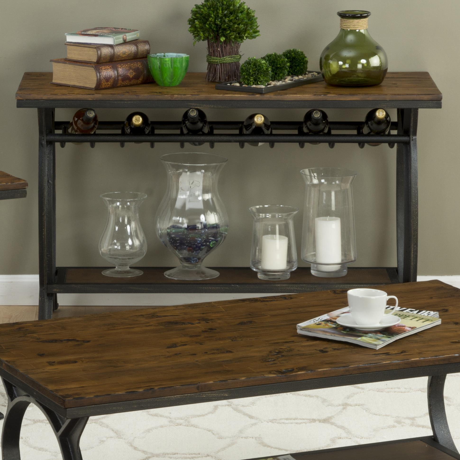 Harperu0027s Press Sofa Table With Wine Rack