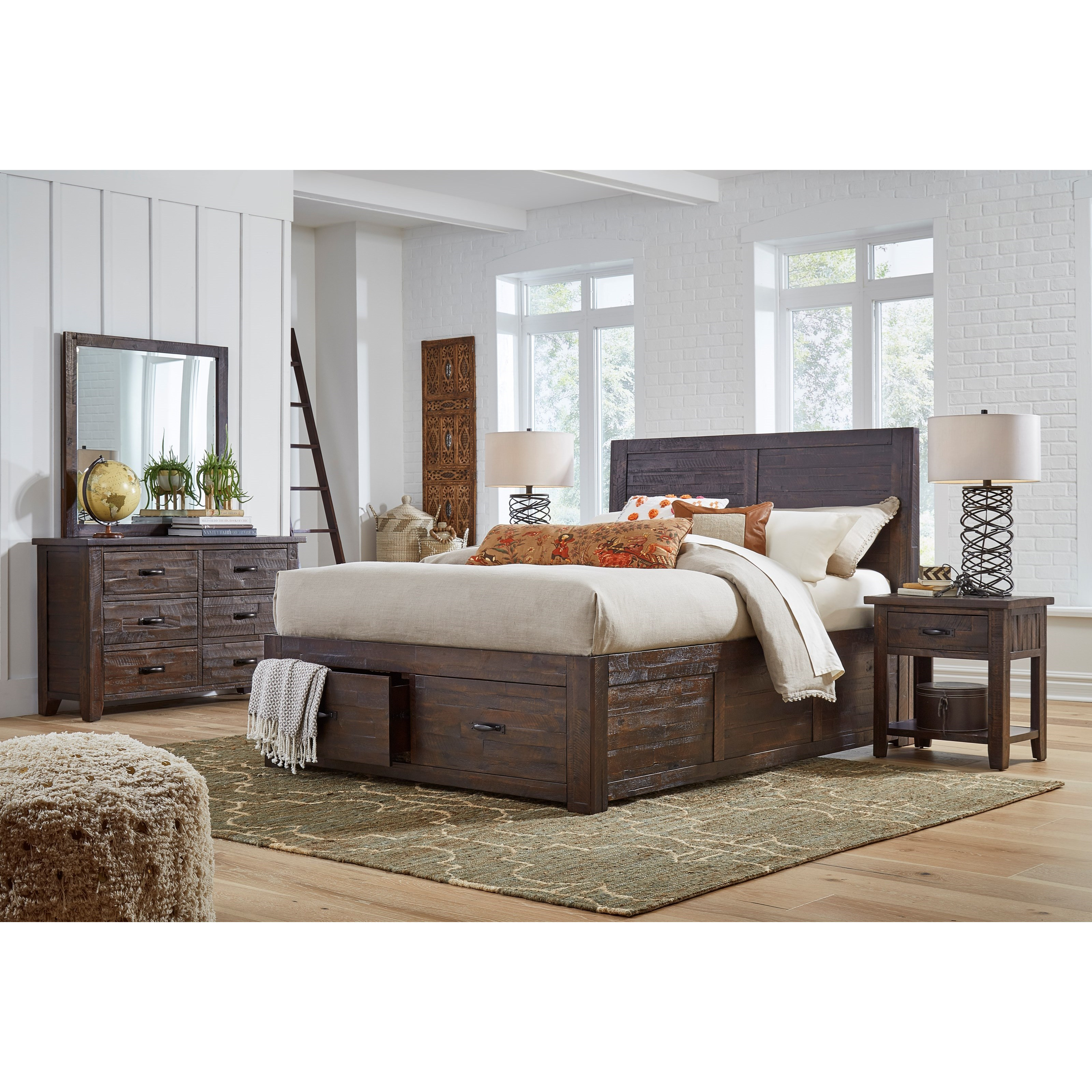 Jackson Lodge Queen Bedroom Group by Jofran at Stoney Creek Furniture