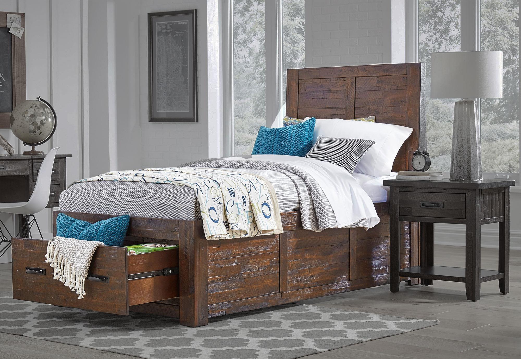 Jofran Jax Youth Twin Storage Bed - Item Number: 1605-656667KT