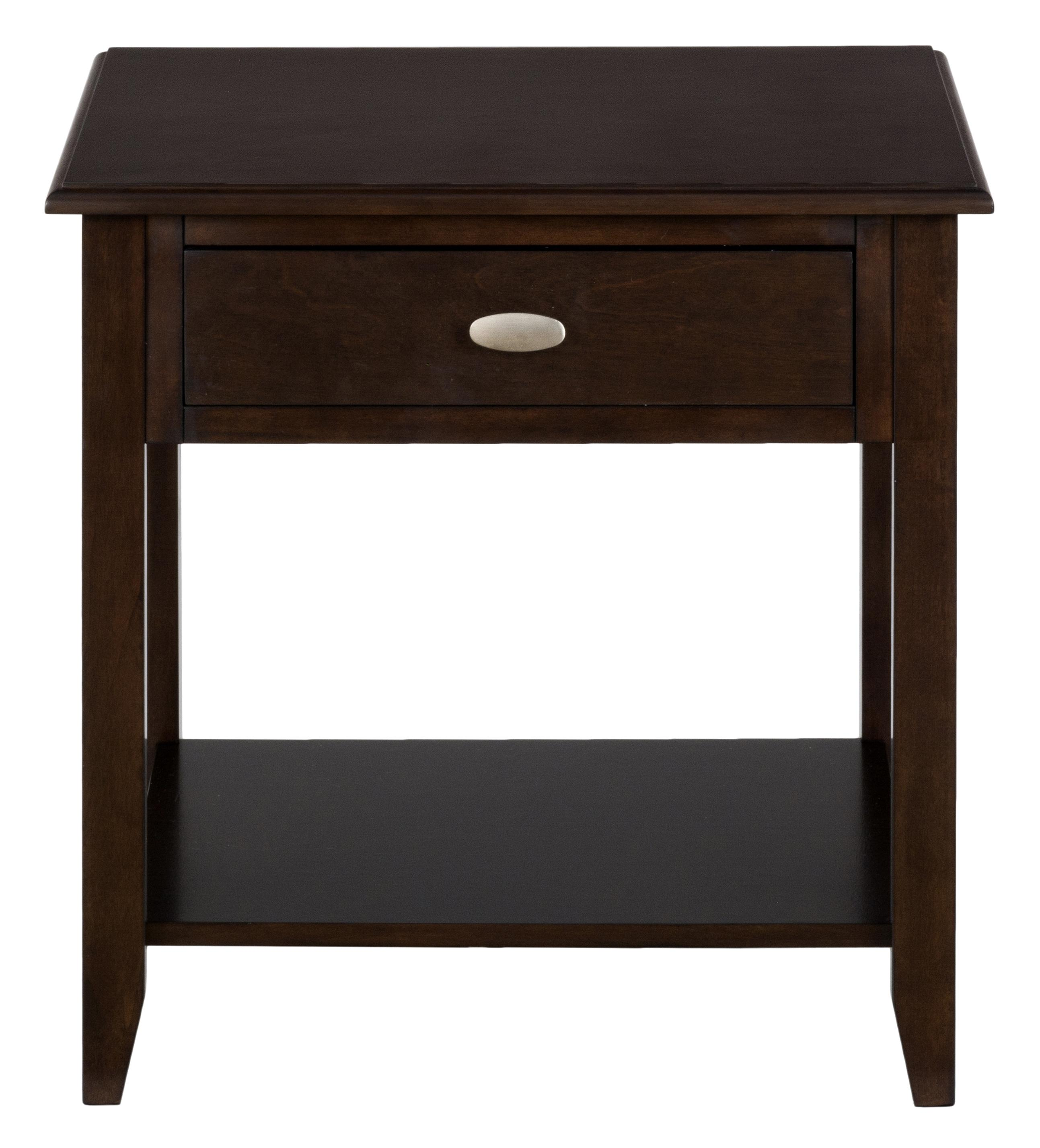 Merlot End Table by Jofran at Value City Furniture