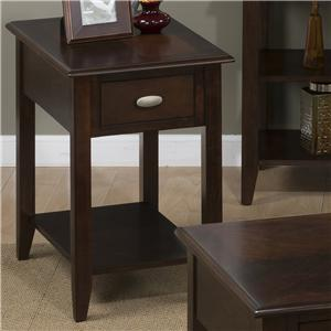 Jofran Merlot Chairside Table