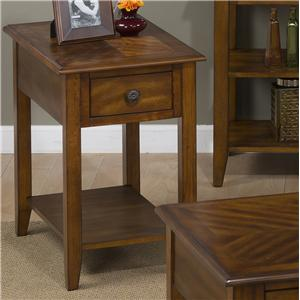 Jofran Medium Brown Chairside Table