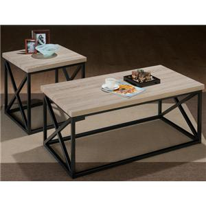Orion Ash X Side 3 Pack Table Set with Tubular Steel and Techmetric Ash by Jofran