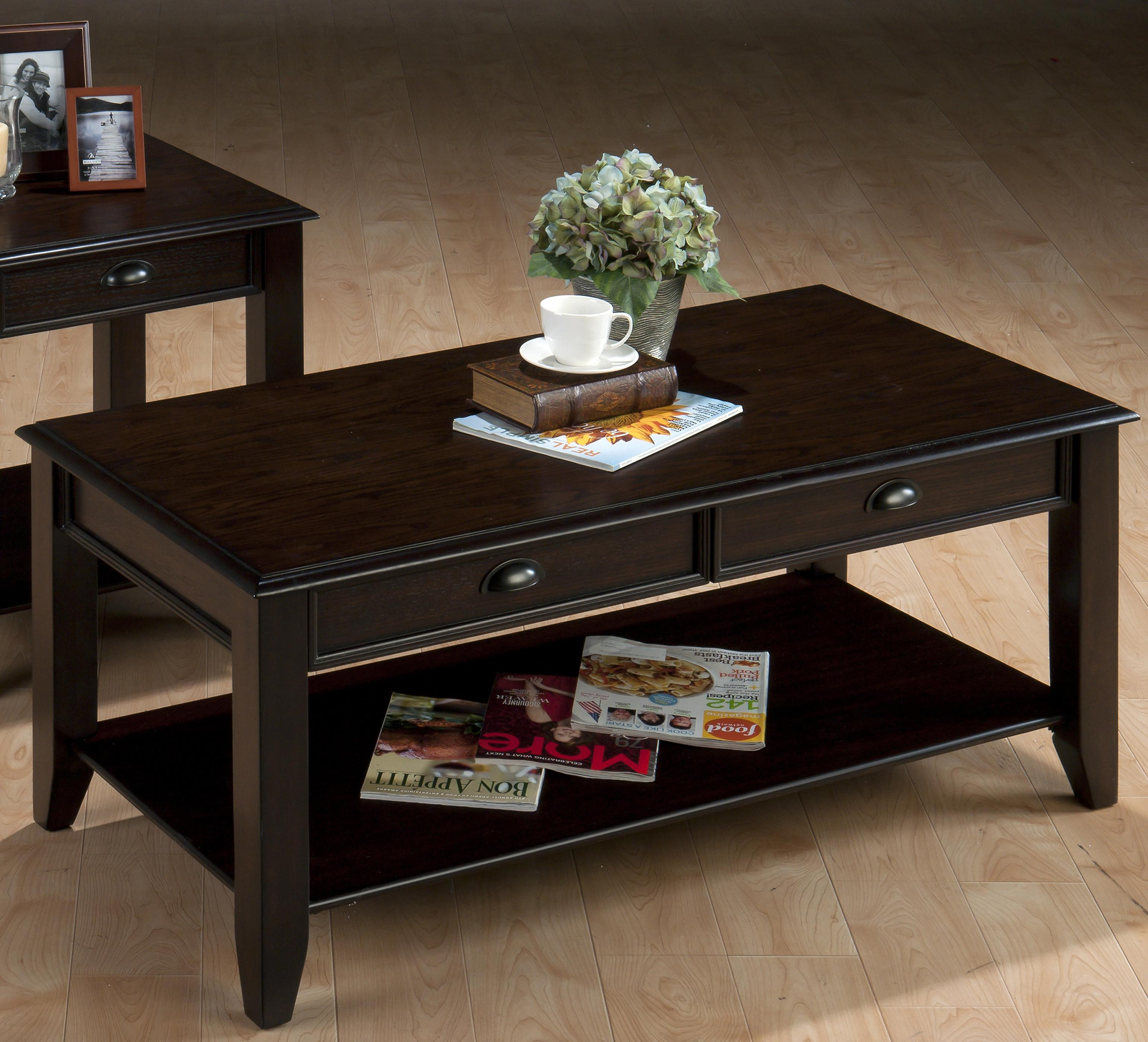 Jofran Bartley Oak Cocktail Table with Two Drawers - Item Number: 459-1