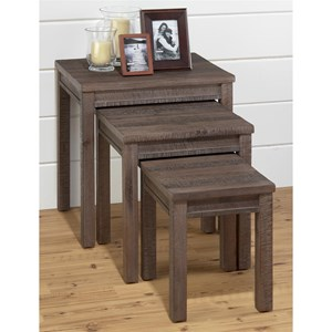 Jofran Falmouth Weathered Grey Nesting Table