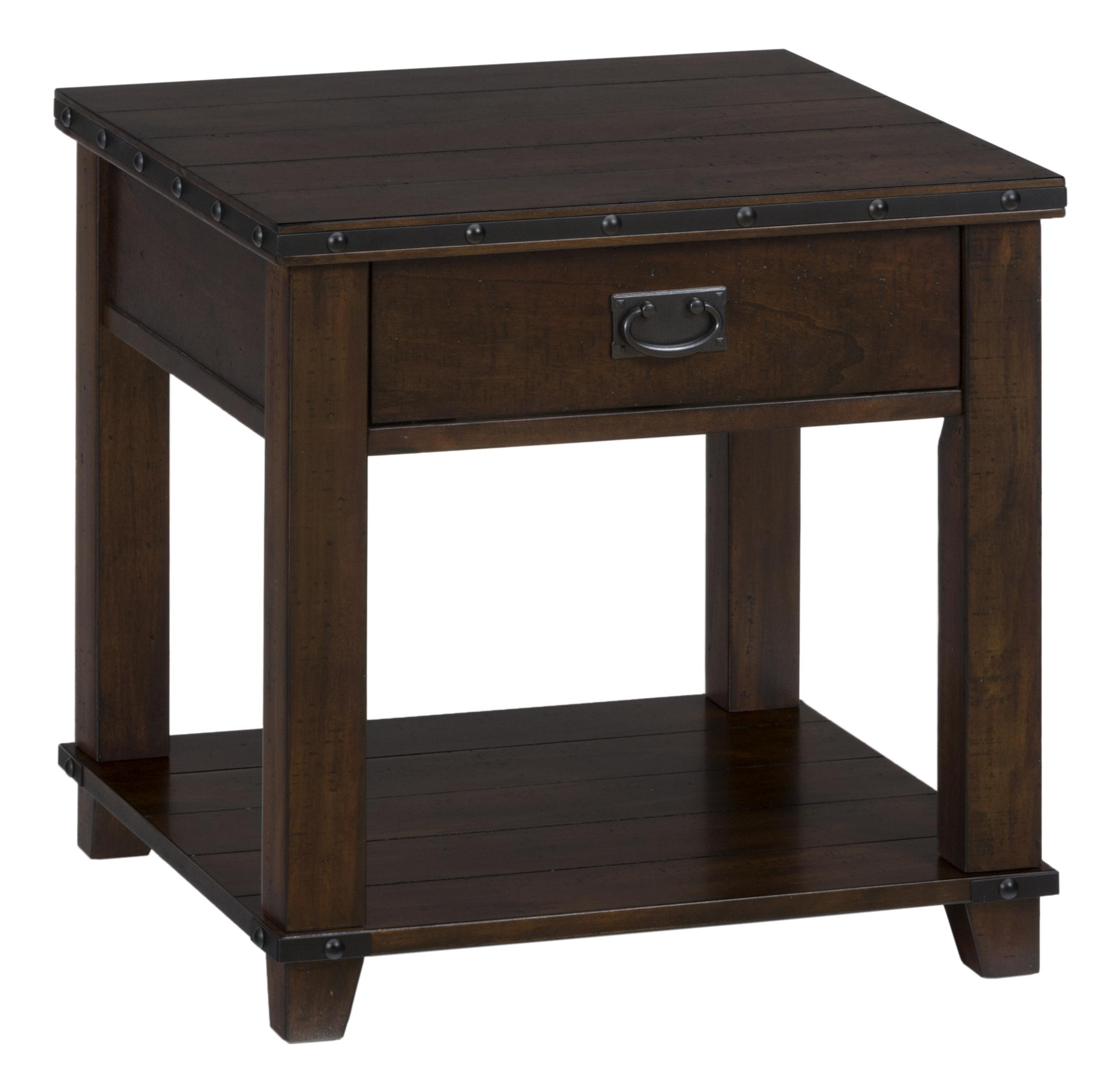 Jofran Cassidy Brown 561 3 Traditional Plank Top End Table