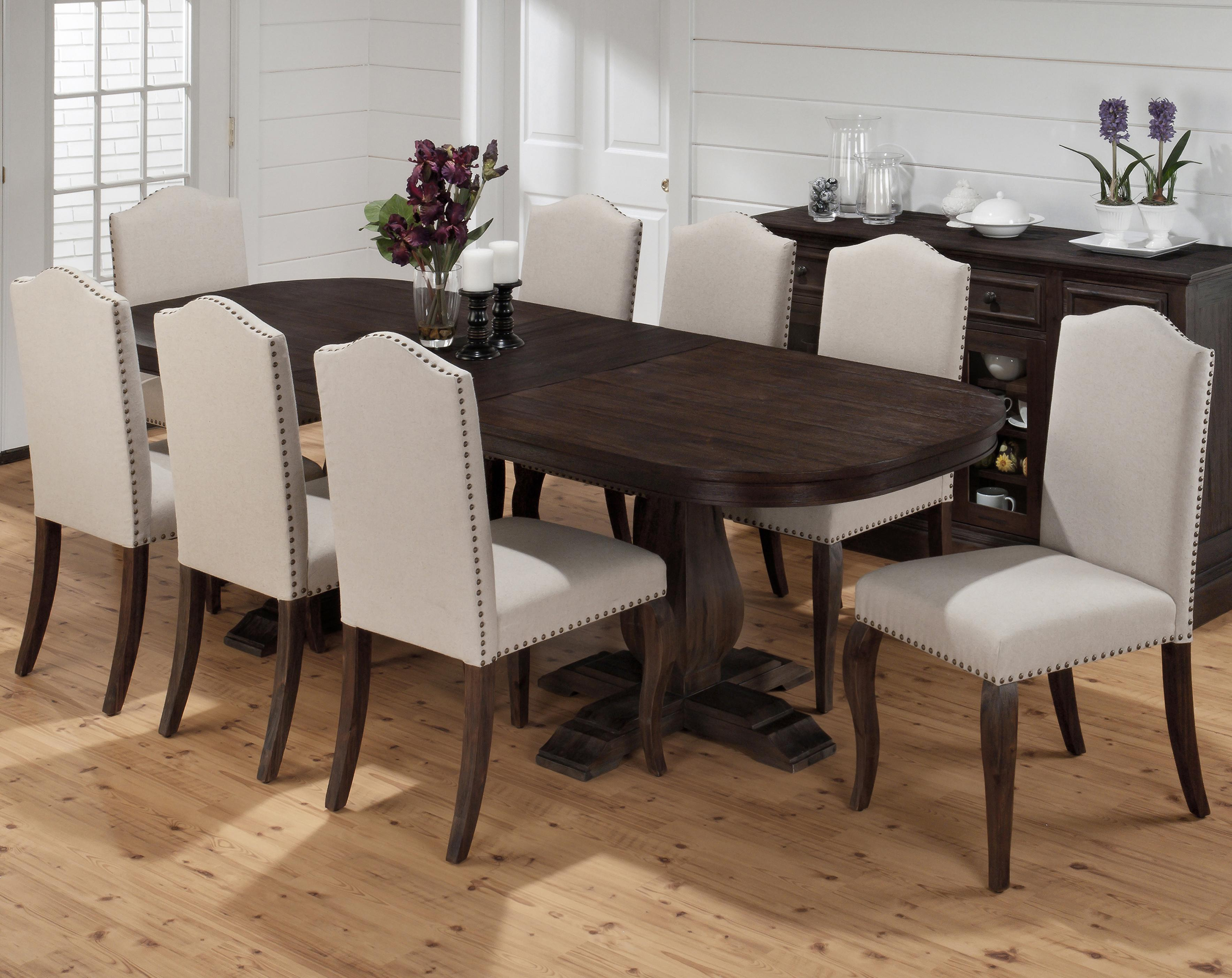 Dining Table and Upholstered Chair Set