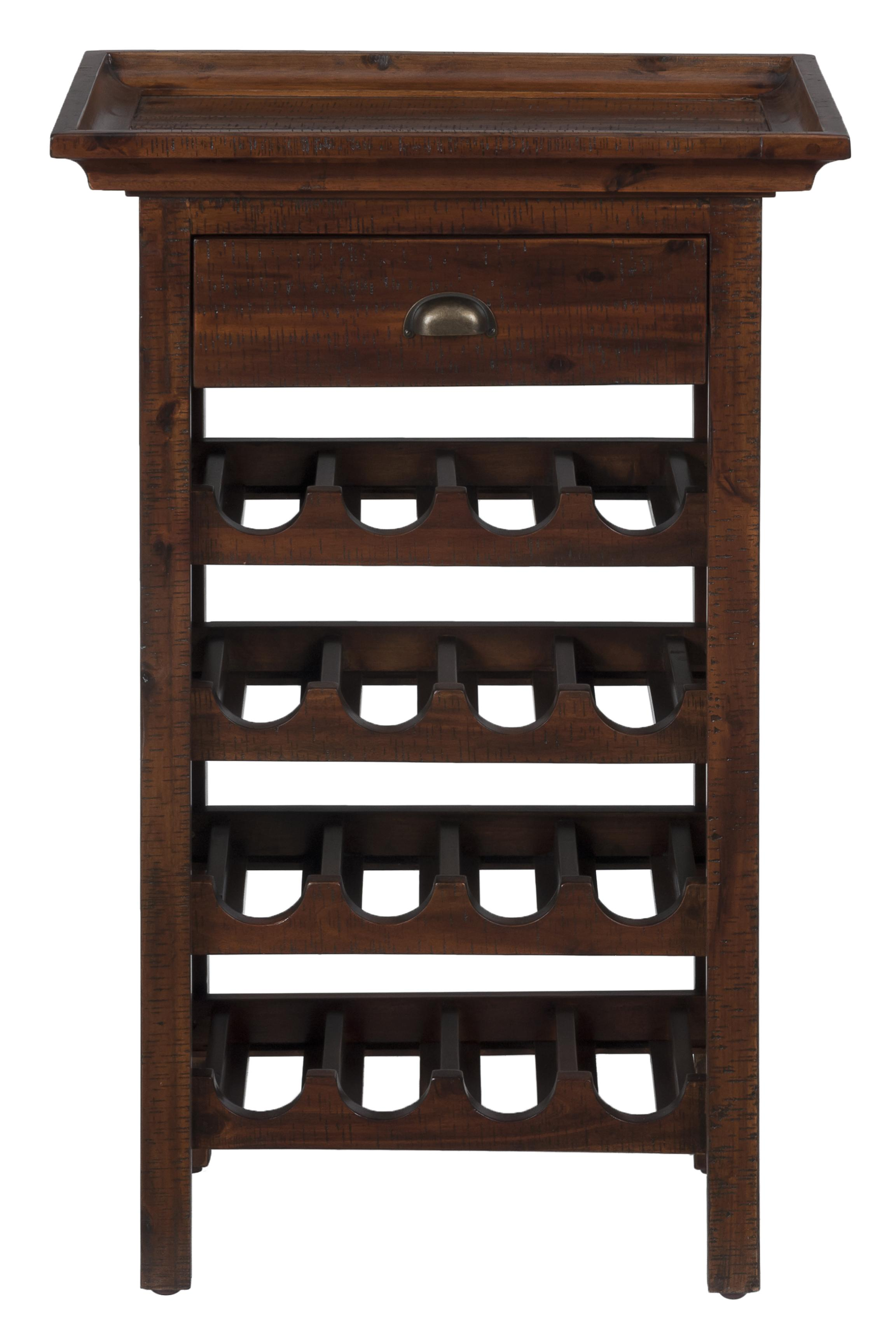 Jofran Urban Lodge Brown Wine Rack - Item Number: 730-12