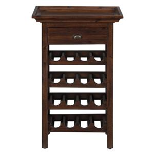 Jofran Urban Lodge Brown Wine Rack