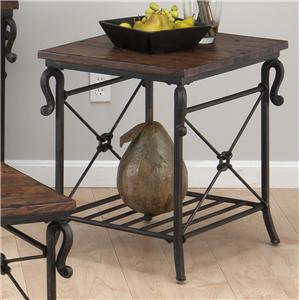 Jofran Rutledge Pine Rectangular End Table