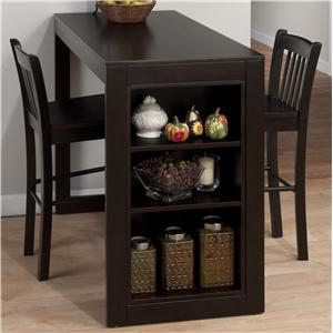 Jofran Maryland Merlot Counter Height Table with Storage