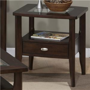 Jofran Montego Merlot Square End Table