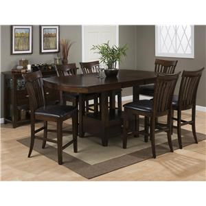 Jofran Tavia 5PC Pub Table & Chair Set