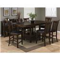 Jofran Tavia 5PC Pub Table & Chair Set - Item Number: 836-78TB+4xBS947KD