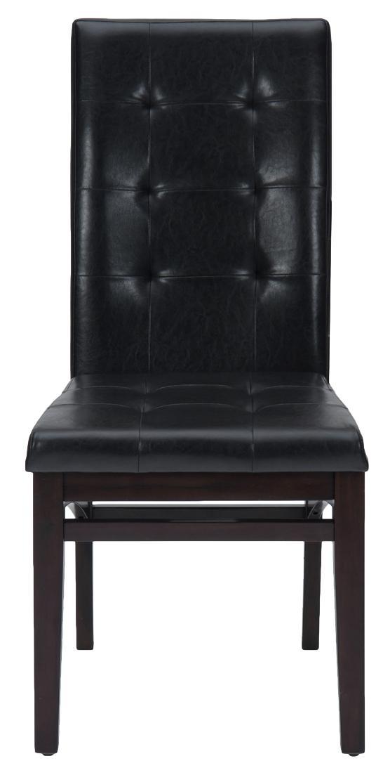 Chadwick Espresso Tufted Parson Chair by Jofran at Jofran