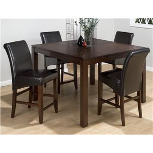 Jofran Carlsbad Cherry 5 Piece Pub Table Set