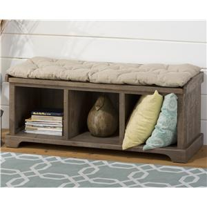 Jofran Slater Mill Pine Reclaimed Storage Bench