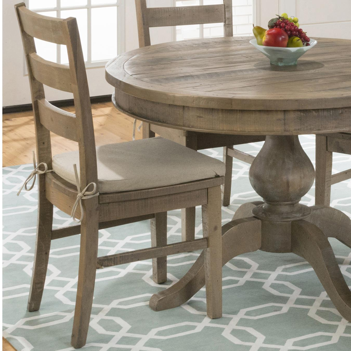 Jofran Bancroft Mills Dining Side Chairs  - Item Number: 941-538KD+CUSHION-941