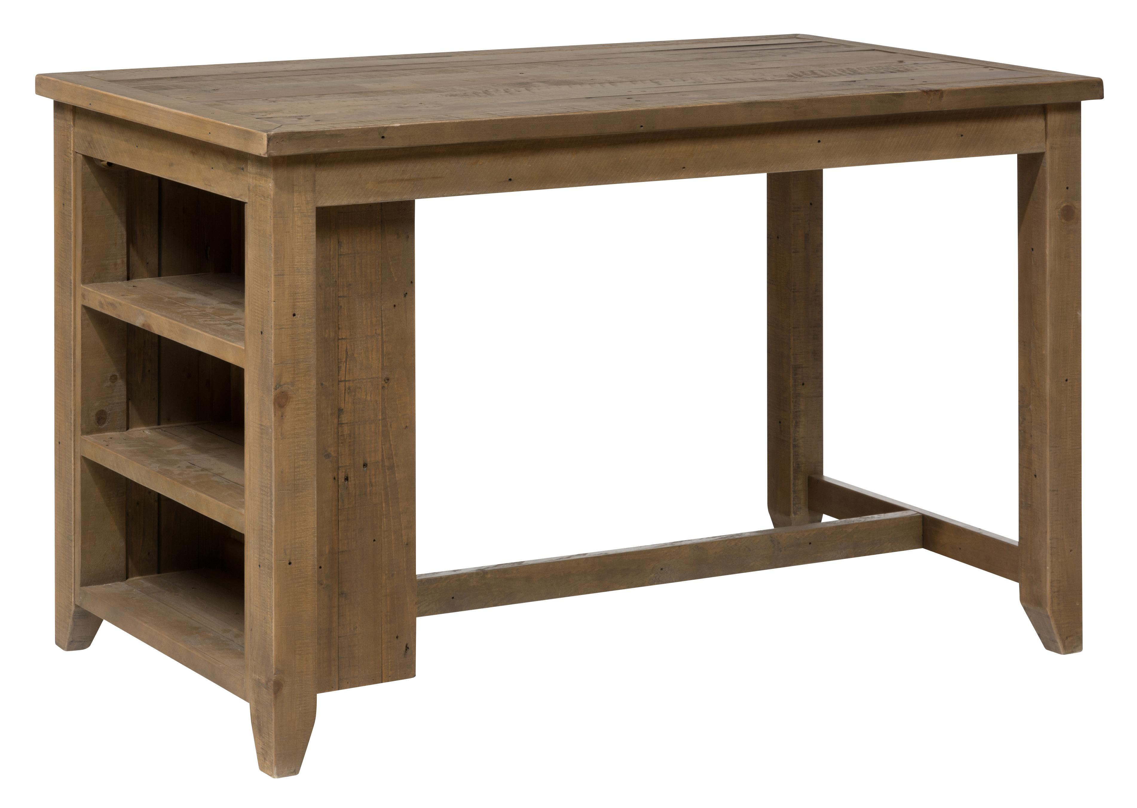 Counter Height Table With 3 Shelf Storage