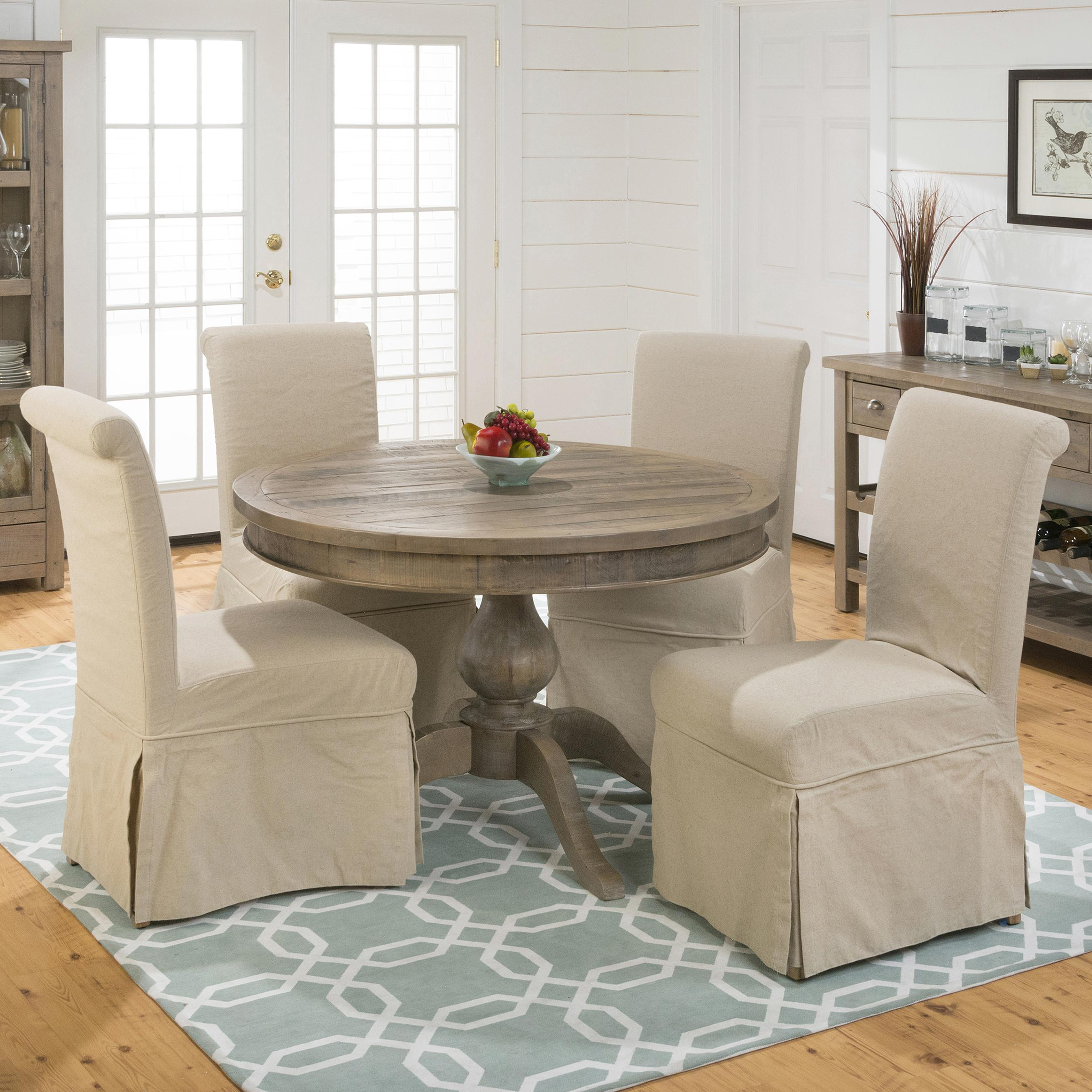 Jofran Slater Mill Pine Chair and Table Set - Item Number: 941-66T+66B+4x162KD