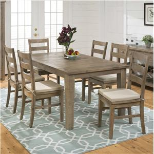 Jofran Bancroft Mills 7PC DiningTable and Chair Set