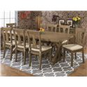 Jofran Bancroft Mills Reclaimed Pine Trestle Table and Chair Set - Item Number: 941-97+8x458KD