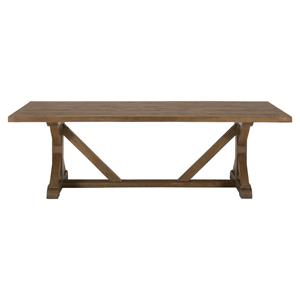 Jofran Somis Reclaimed Pine Trestle Dining Table