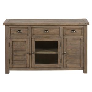 "Jofran Slater Mill Pine 50"" Reclaimed Wood Media Unit"