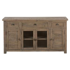 "Jofran Bancroft Mills 60"" Reclaimed Wood Media Unit"