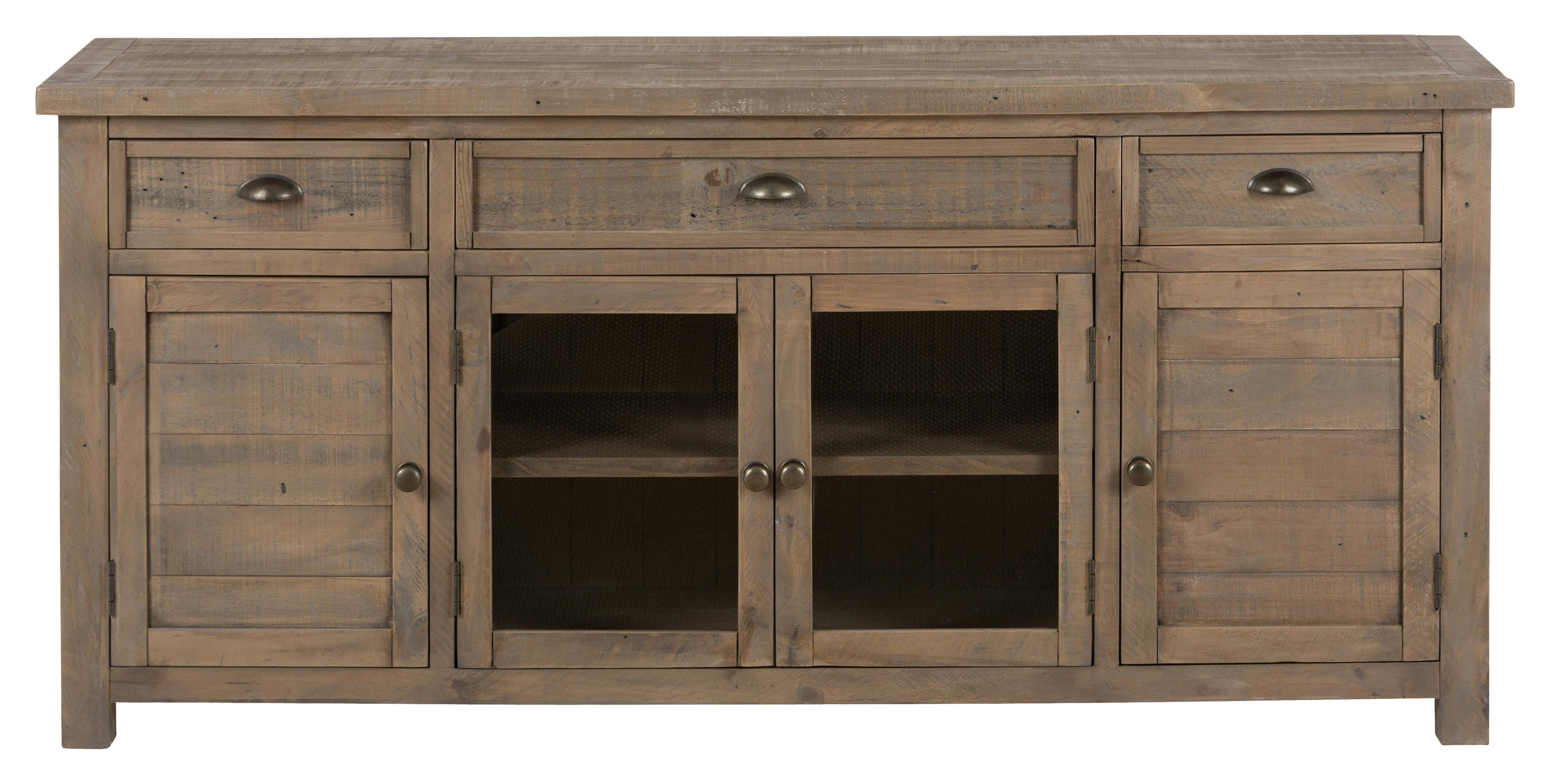 "Jofran Slater Mill Pine 70"" Reclaimed Wood Media Unit - Item Number: 942-70"