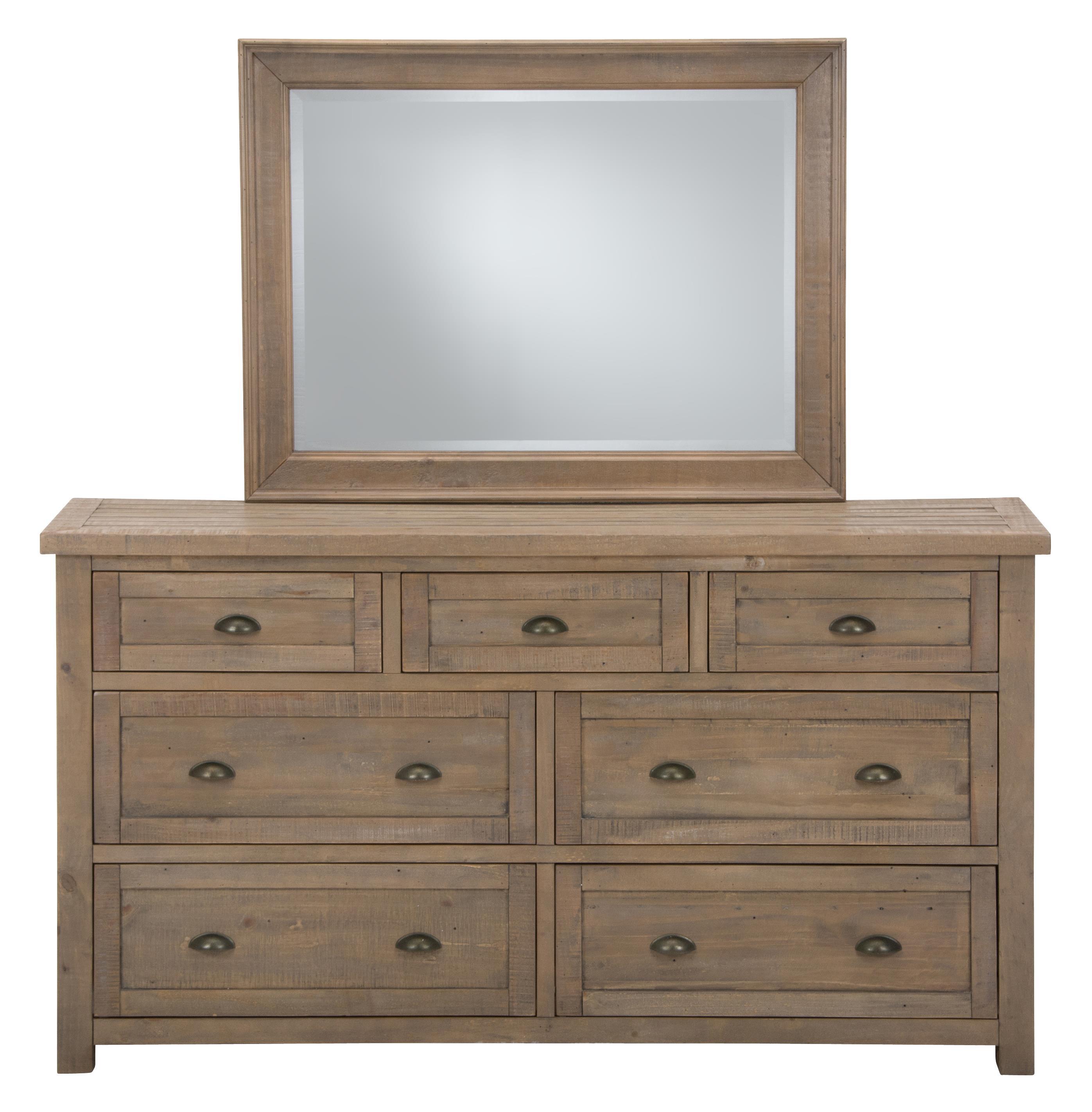 Jofran Slater Mill Pine Dresser and Mirror Set - Item Number: 943-10+20