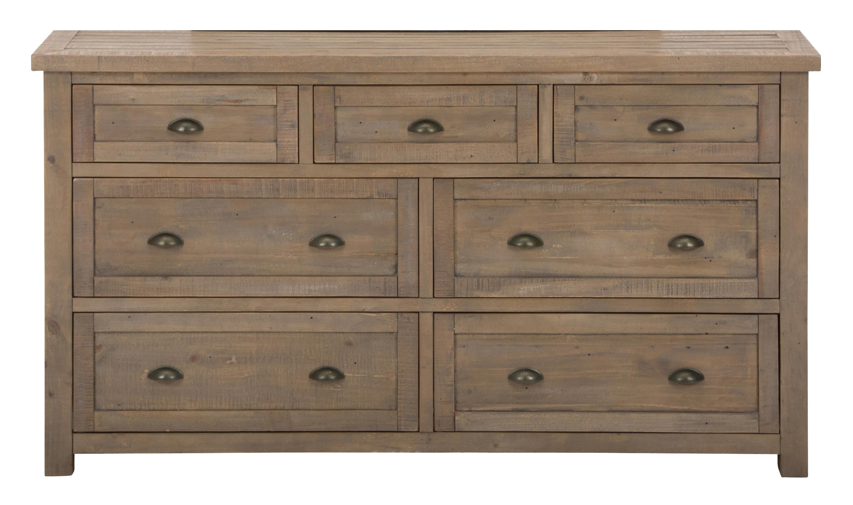 Jofran Slater Mill Pine 7-Drawer Dresser - Item Number: 943-10