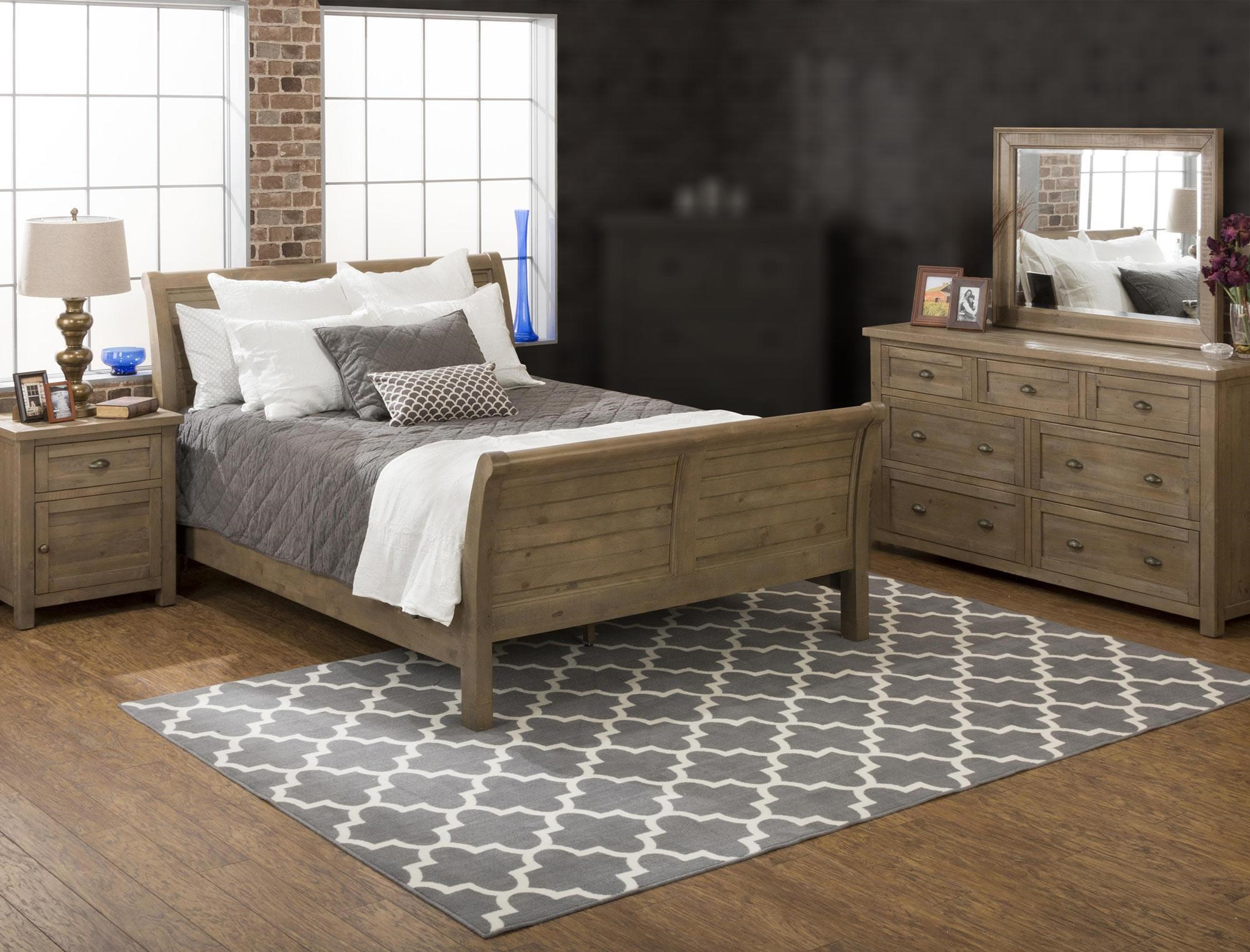 Jofran Bancroft Mills 4PC King Bedroom Set - Item Number: 943-4PC-KBR
