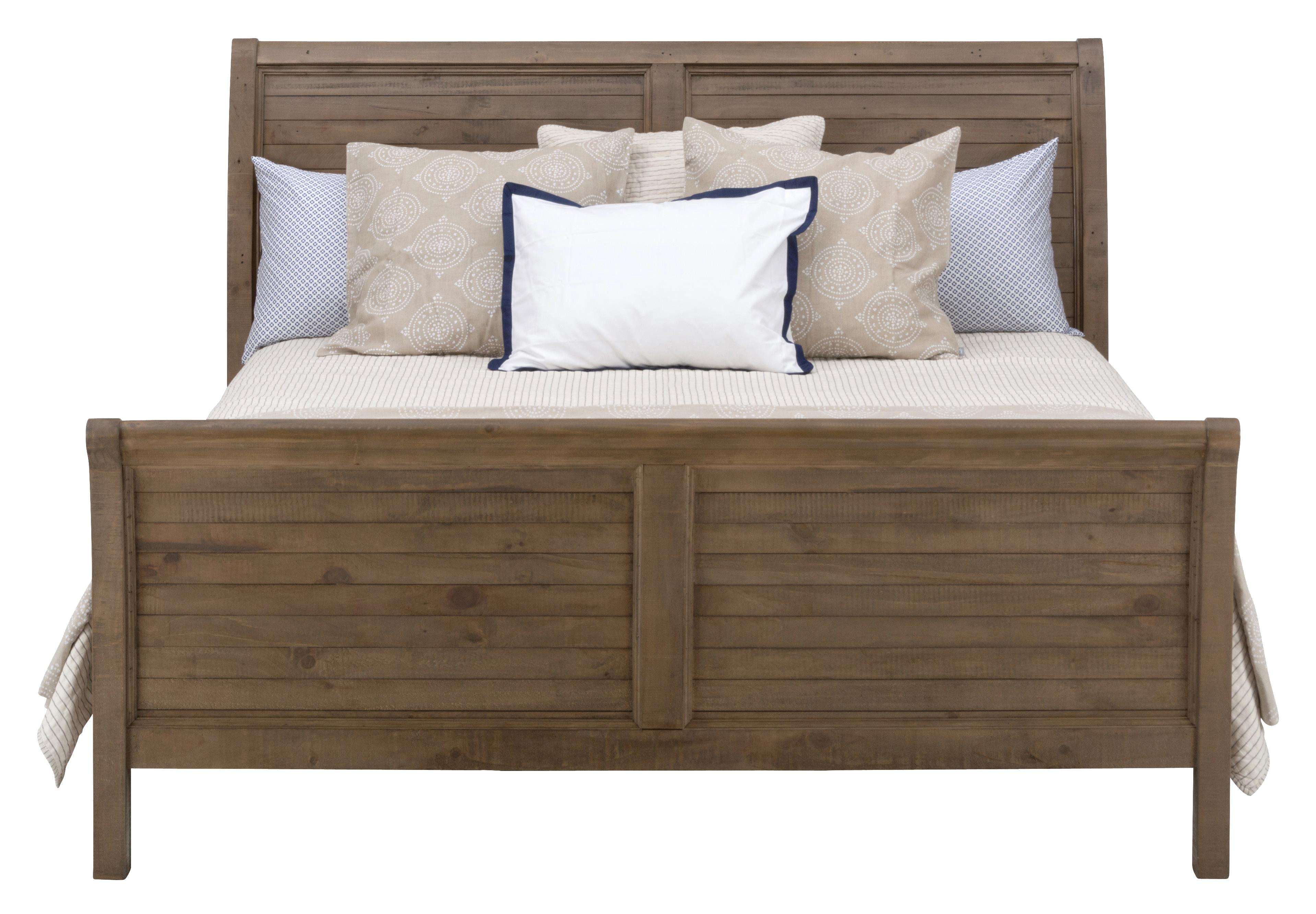 Jofran Slater Mill Pine King Sleigh Bed - Item Number: 943-95+96+97