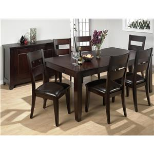 Jofran Dark Rustic Prairie 7-Piece Dining Set