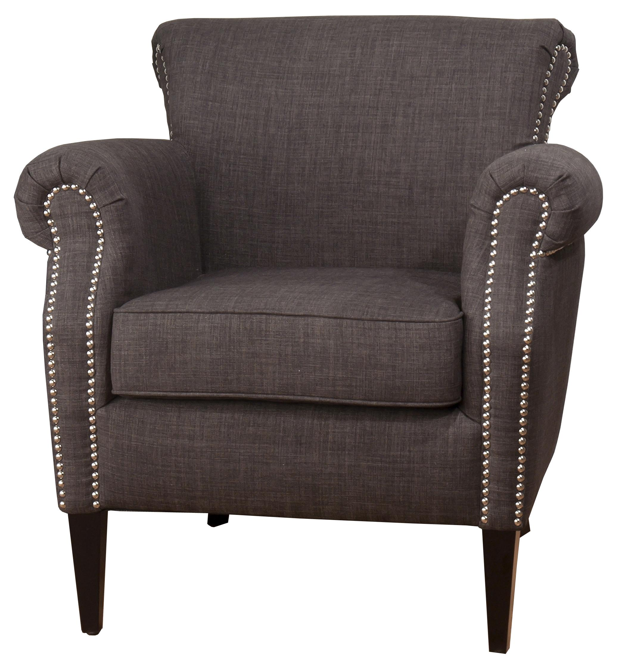 Jofran Upholstered Accent Chairs Emma Club Chair - Item Number: Emma Charcoal