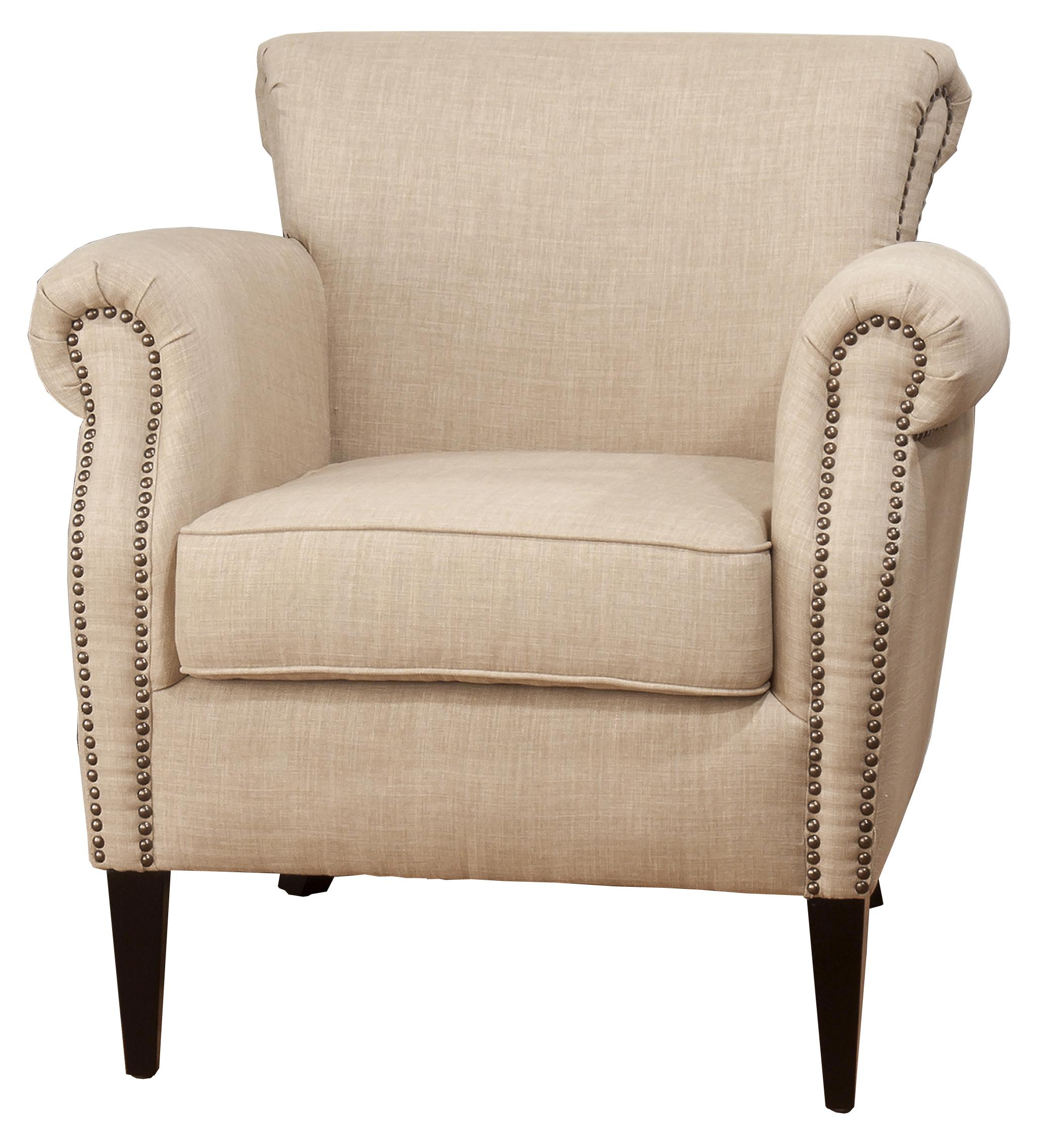 Jofran Upholstered Accent Chairs Wheat Emma Club Chair - Item Number: EMMA-CH-WHEAT