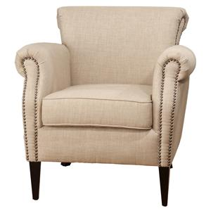 Jofran Upholstered Accent Chairs Wheat Emma Club Chair