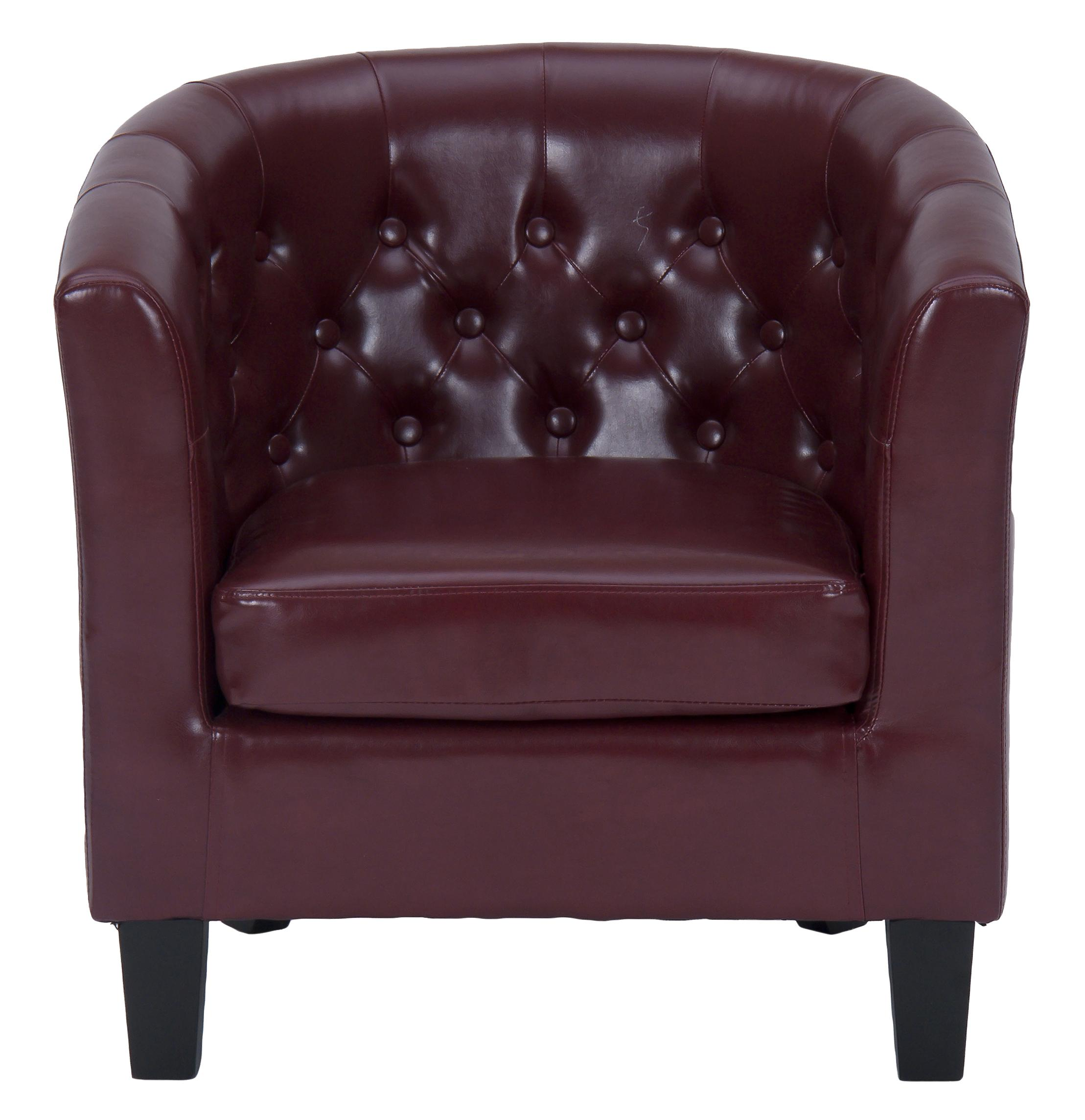 Jofran Upholstered Accent Chairs Red Gianni Club Chair - Item Number: GIANNI-CH-RED