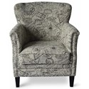 Jofran Accent Chairs Globetrotter Accent Chair - Item Number: GLOBETROTTER-CH-GRT