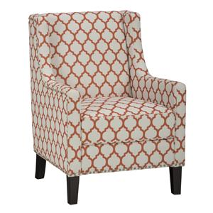 Jofran Accent Chairs Jeanie Club Chair in Persimmon