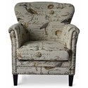 Jofran Accent Chairs Phoebe Accent Chair - Item Number: PHOEBE-CH-CREAM